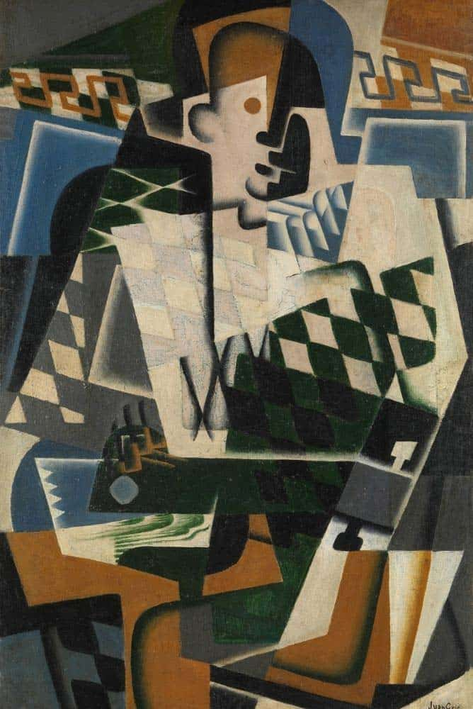 Oil painting in the cubist style.