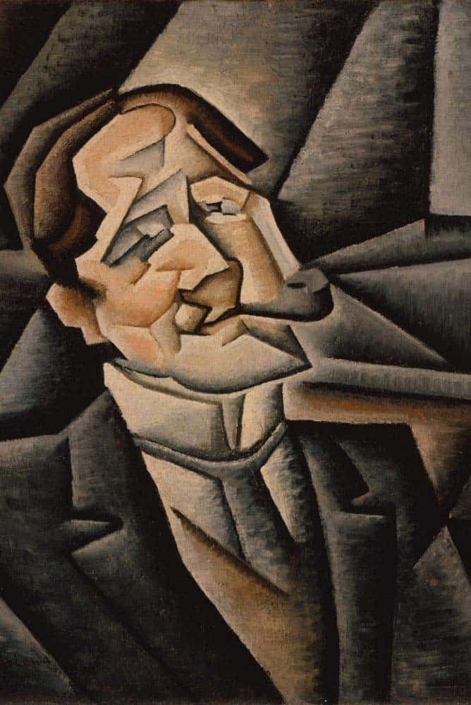 Cubist style painting.