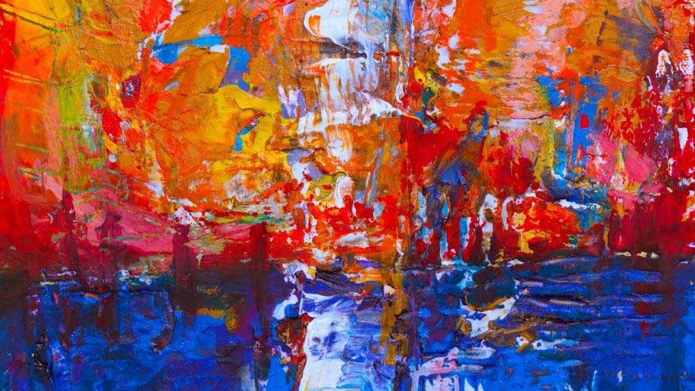 Expressionistic painting.