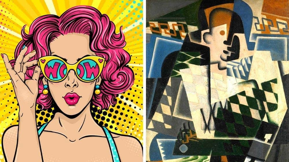 The difference between pop art and cubism.