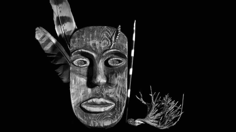 Carved wooden mask makes for culturally significant art.