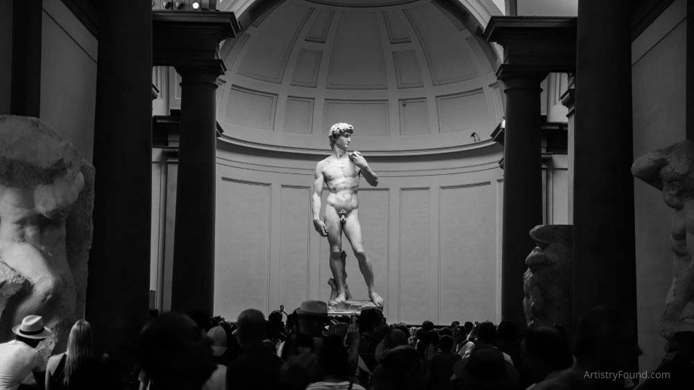 Michelangelo's David statue is another famous example of a freestanding sculpture.
