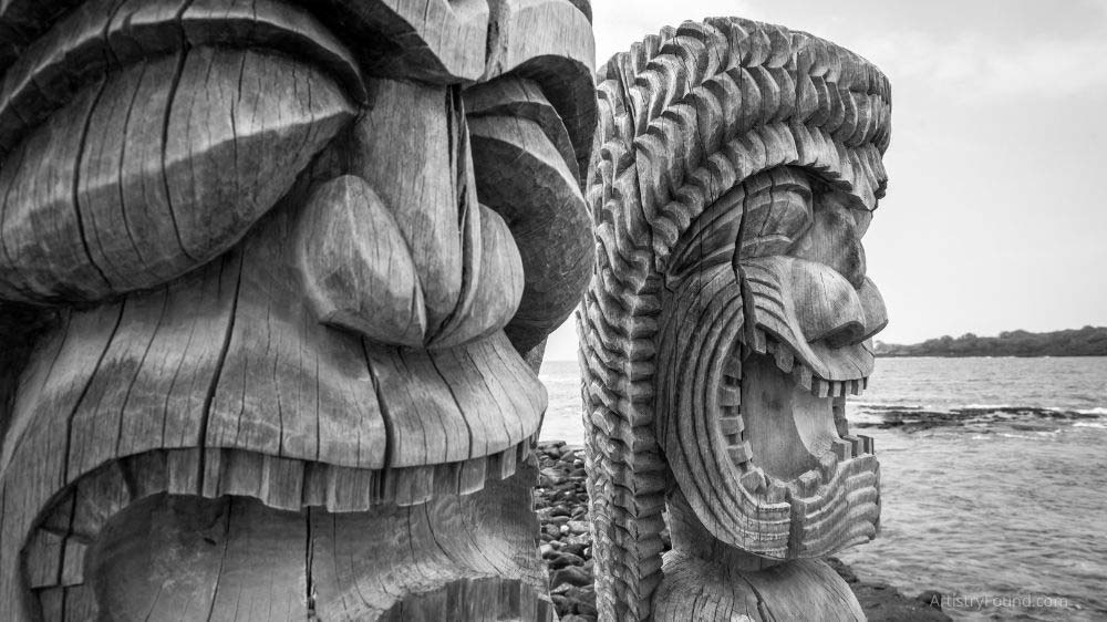 The tiki carvings you see when you visit the islands of Hawaii and the South Pacific are examples of subtractive sculpture.