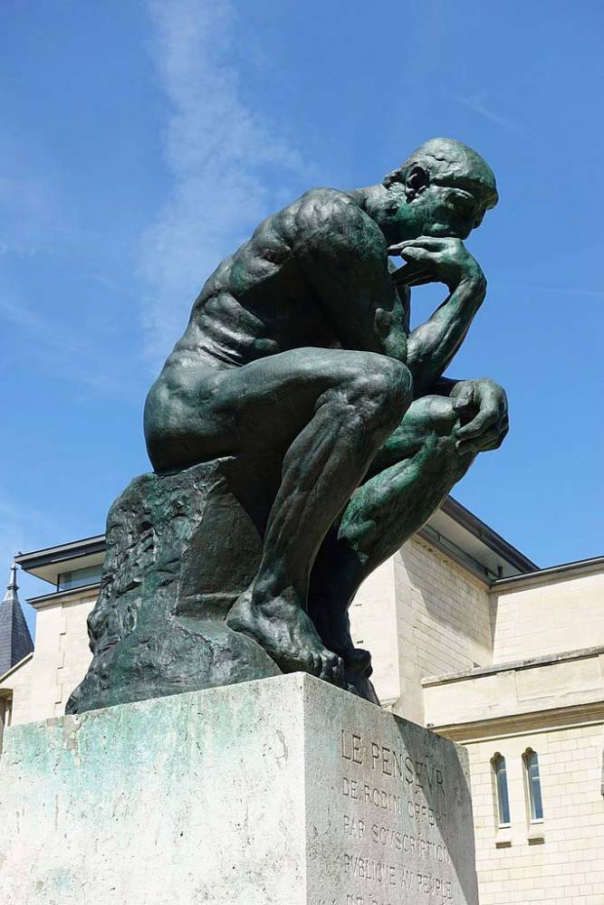 The Thinker by Auguste Rodin in Paris.