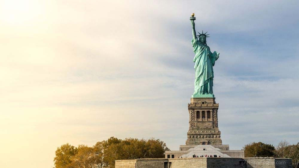 The Statue of Liberty is an example of a Statue that is also a sculpture.