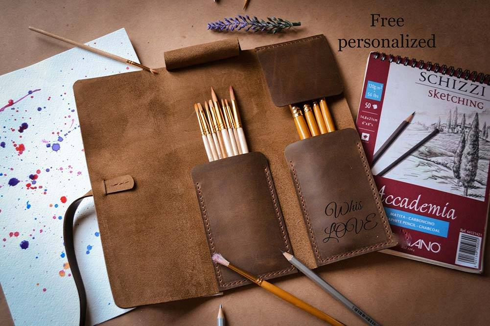 A personalized paint brush roll is a great gift for an artist that paints.
